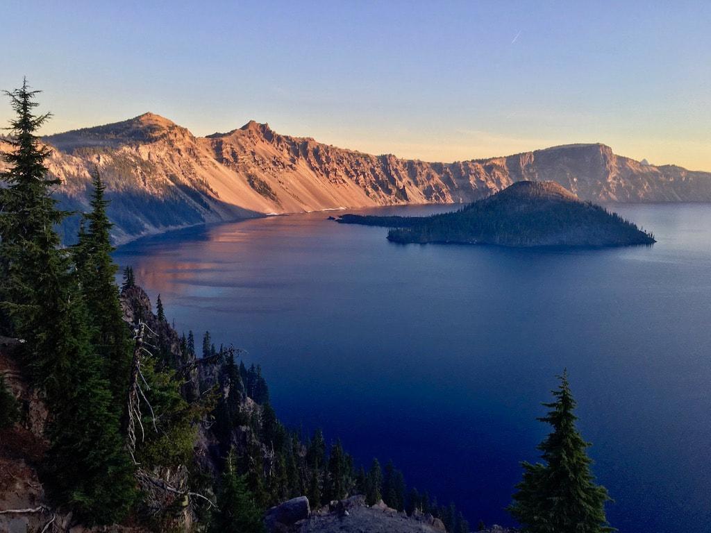 Sunrise at Crater Lake National Park