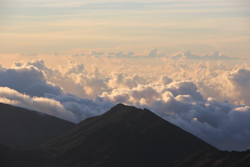sunrise at haleakala crater