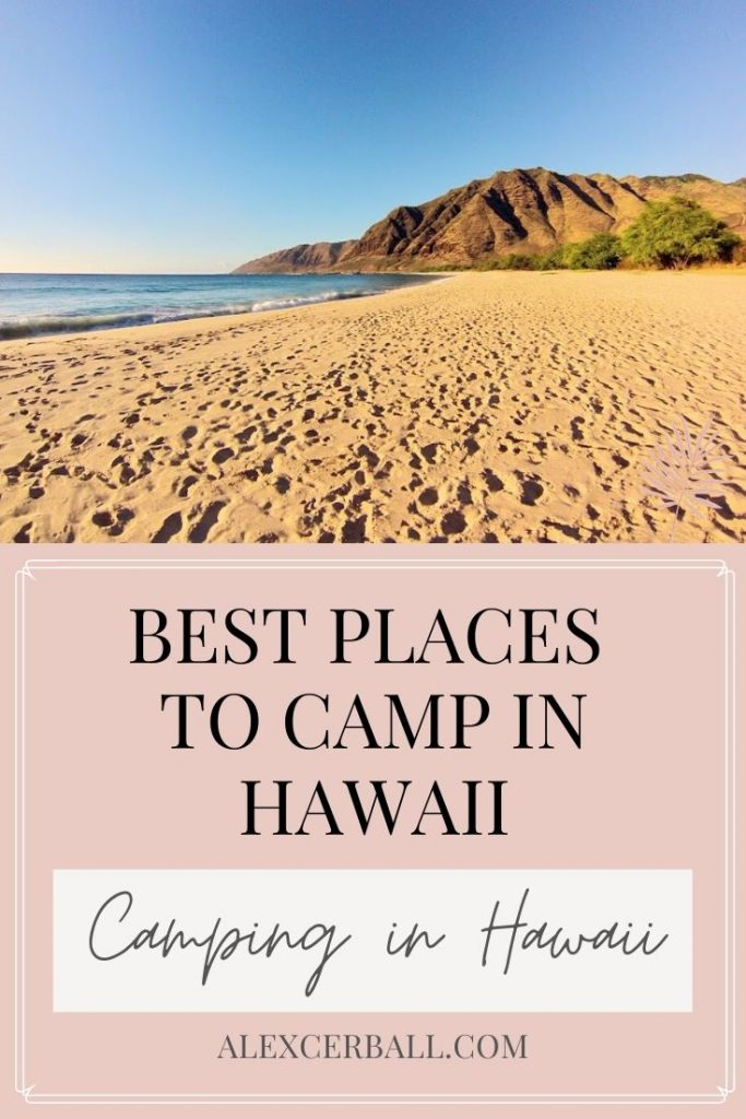 best places to camp in Hawaii