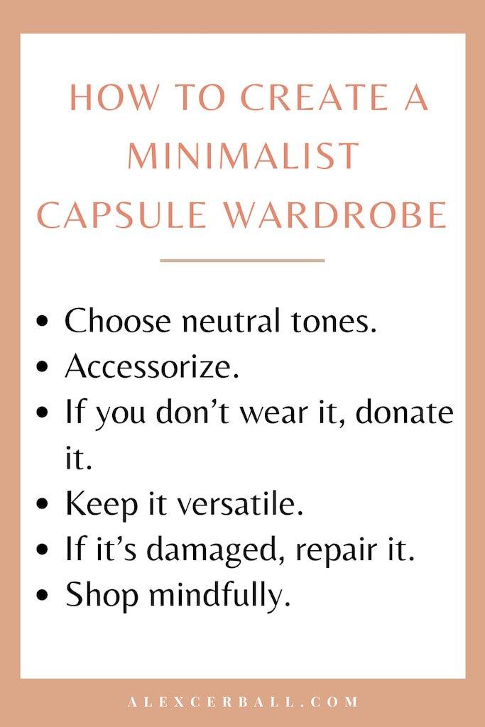 Spring Minimalist Capsule Wardrobe
